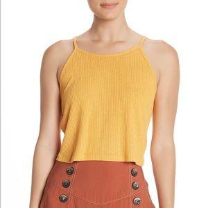 Topshop Orange Knitted Halter Top